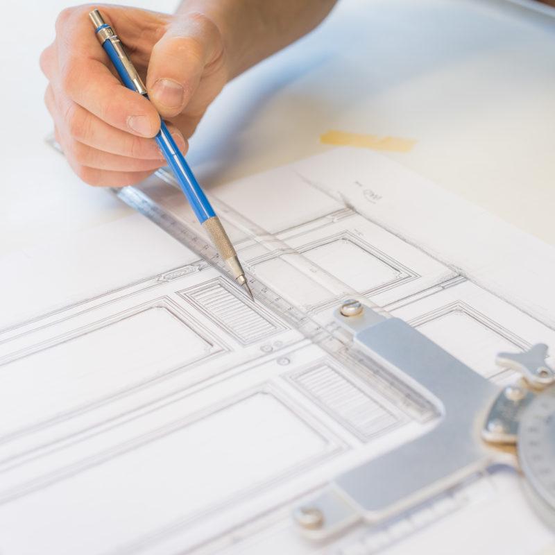 Präzse geplant - von der Idee über die Zeichnung zur fertigen Tür