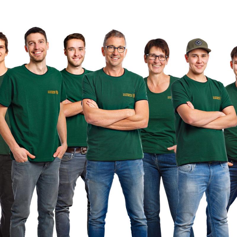 Gemeinschaft - Silke, Max, Pierre, David, Konrad, Peter, Renate, Alexander, Patrick, Jonathan, Tesfaldet